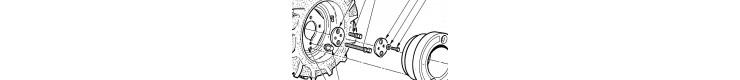 roues motoculteur  Staub 8100-8500-9600-9600DEL