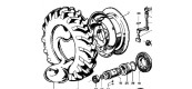Arbre, frein et roues