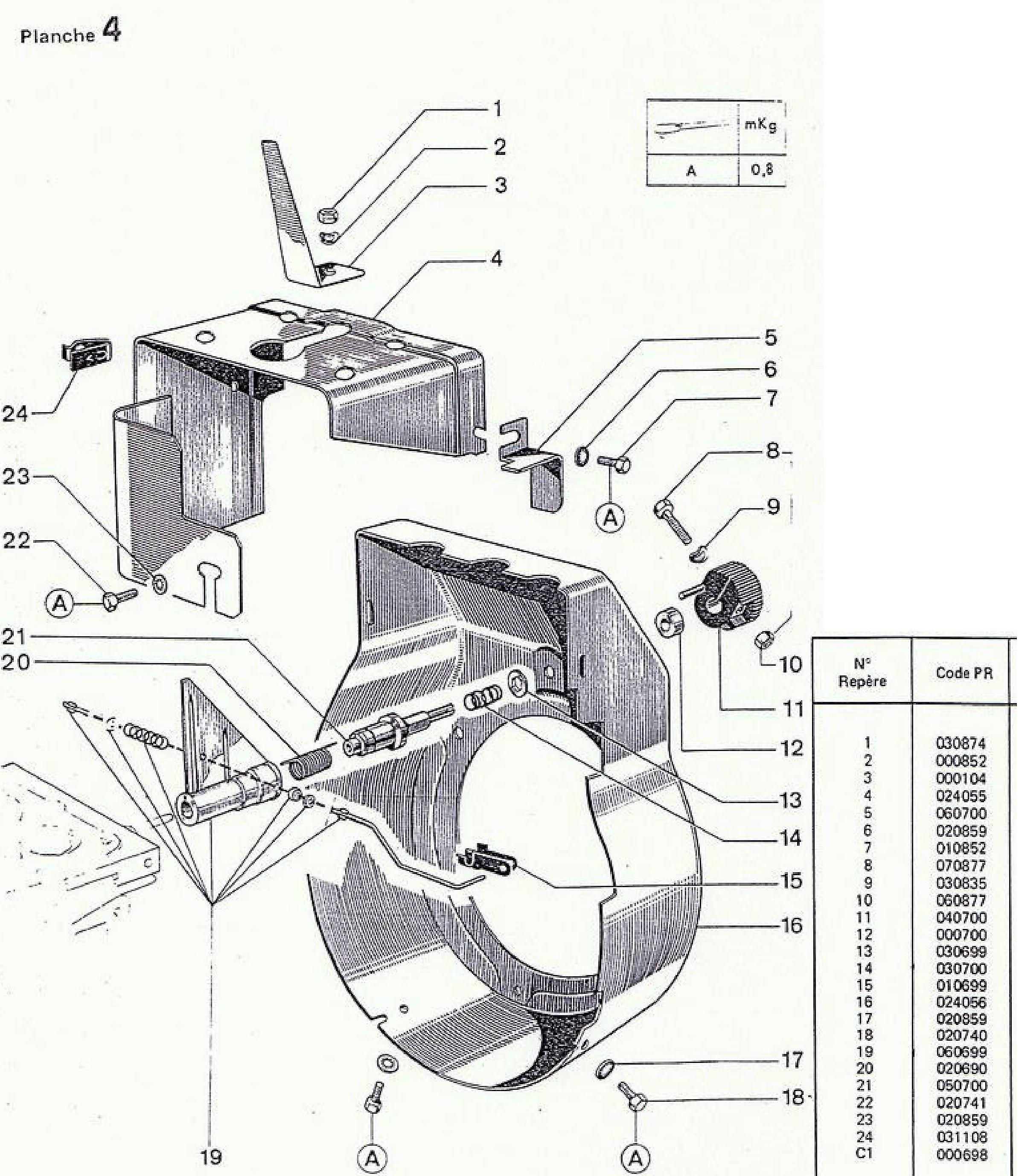 vue eclatee regulation 18A-18B-28A-318A-328A