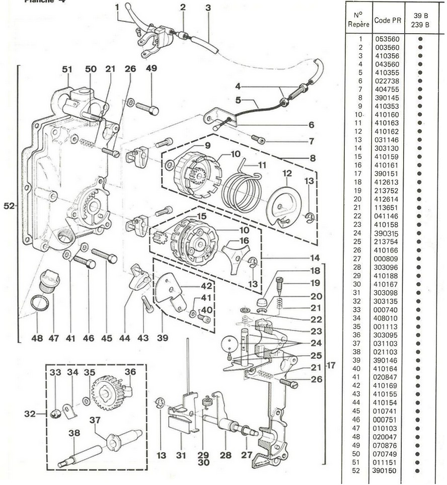 vue eclatee regulation 39B-239B-249B