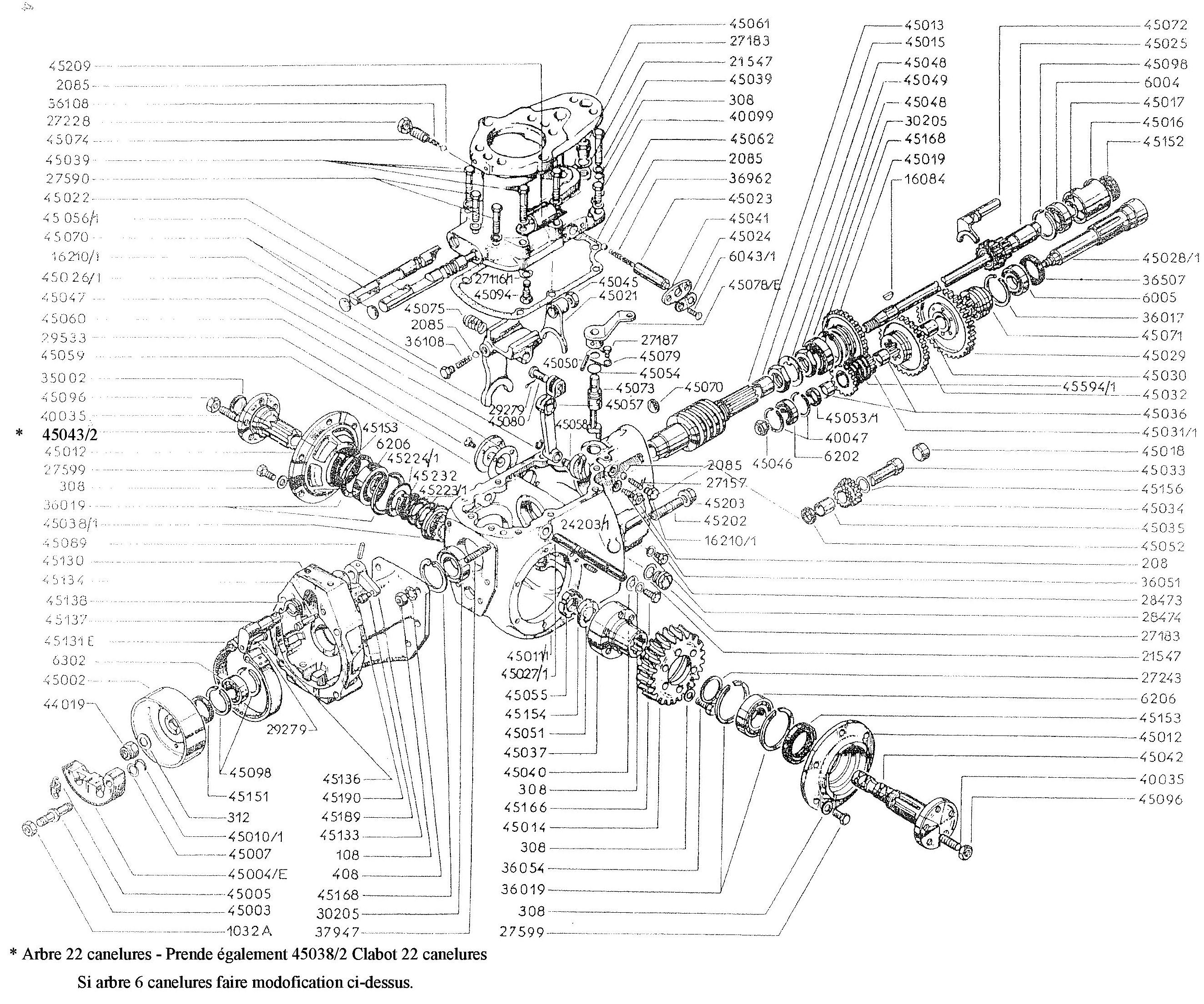 vue eclatee reducteur modele A Staub PPX